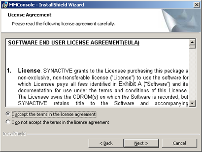 MMC License Agreement