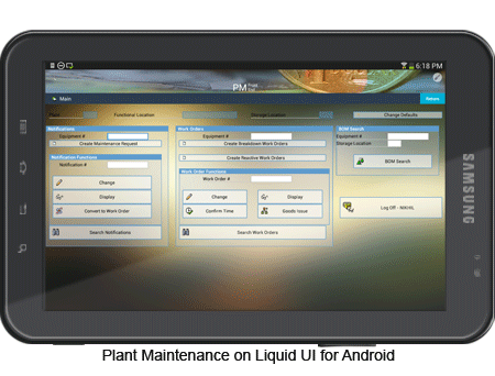 Plant Maintenance on Liquid UI for Android