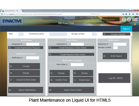 Plant Maintenance on Liquid UI for HTML5