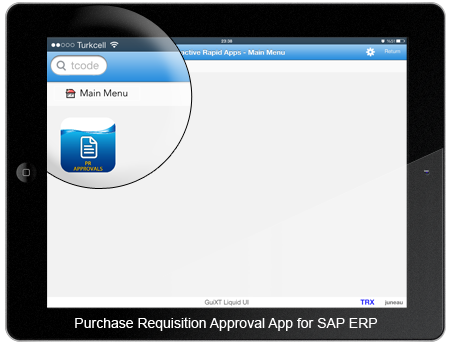 Purchase Requisition Approval App Home Screen