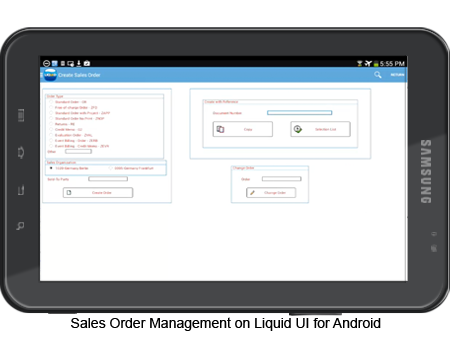 Sales Order Management on Liquid UI for Android
